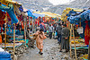 yatri (pilgrims) and souvenirs shops in tent village - amarnath yatra (pilgrimage) - kashmir