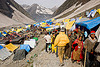 tent village near the cave - amarnath yatra (pilgrimage) - kashmir