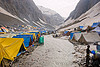 river and tent village near the cave - amarnath yatra (pilgrimage) - kashmir