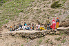 pilgrims resting on trail - amarnath yatra (pilgrimage) - kashmir