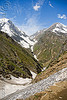 valley view from trail - amarnath yatra (pilgrimage) - kashmir