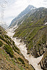valley and trail - amarnath yatra (pilgrimage) - kashmir
