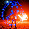 fire performers - spinning light poi - flowlights (san francisco), fire dancer, fire dancing, fire performer, fire spinning, flowlights, flowtoys, glowing, led lights, led poi, led staff, light poi, light staffs, long exposure, nicky evers, night, spinning fire