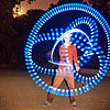 spinning LED light poi - flowlights - nicky, fire dancer, fire dancing, fire performer, fire spinning, flowlights, flowtoys, glowing, led lights, led poi, led staff, light poi, light staffs, long exposure, nicky evers, night, spinning fire