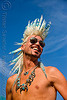 andrew marlin with feather-like mohawk - folsom street fair 2009 (san francisco)