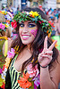woman in flowery outfit, festival, love fest, lovevolution, raver, woman