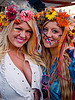 women with flower headdress, festival, flowers, flowery, hats, headdress, headdresses, love fest, lovevolution, women