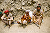 sadhus (hindu holy men) resting on the trail - amarnath yatra (pilgrimage) - kashmir