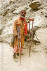 sadhu (hindu holy man) - crippled - crutches - amarnath yatra (pilgrimage) - kashmir
