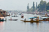 small boats on the lake - srinagar - kashmir