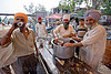 sikh langar serving free drinks (free community kitchen) - amarnath yatra (pilgrimage) - kashmir