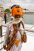 sikh warrior - nihang singh at the golden temple - amritsar (india)
