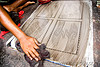 cleaning an offset printing plate (india)