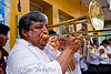 trombone player, banda rey imperial, carnaval, carnival, jujuy capital, man, marching band, noroeste argentino, san salvador de jujuy, trombone
