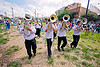 saxhorn players, andean carnival, banda rey imperial, carnaval, four, jujuy capital, marching band, men, noroeste argentino, san salvador de jujuy, saxhorn players
