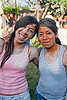 quechua girls at carnaval - carnival in jujuy capital (argentina), carnaval, carnival, girls, indigenous, jujuy capital, noroeste argentino, quechua, san salvador de jujuy, talk powder, two, women