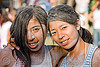 carnival in jujuy capital (argentina) - two girls, andean carnival, carnaval, friends, girls, jujuy capital, noroeste argentino, san salvador de jujuy, talk powder, two, women