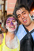 carnaval - carnival in jujuy capital (argentina), andean carnival, carnaval, couple, face painting, facepaint, jujuy capital, man, mary di primio, noroeste argentino, paint, san salvador de jujuy, talk powder, woman