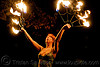 samantha with fire fans (san francisco), fire dancer, fire dancing, fire fans, fire performer, fire spinning, flames, night, red hair, redhead, sam, samantha, spinning fire, woman