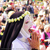 nun praying - the sisters of perpetual indulgence - easter sunday in dolores park, san francisco