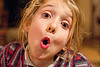 kid making faces, apolline, blonde, child, kid, little girl, making faces