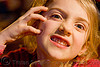 making faces, apolline, blonde, child, kid, little girl, making faces, mouth, teeth