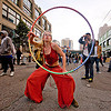 hula hooper - cressie mae (san francisco), cressie mae, how weird festival, hula hoop, hula hooper, red, woman