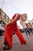 bending backward, blonde, cressie mae, how weird festival, hula hoop, hula hooper, red, woman