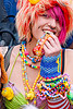 kandi kid, ashley, beads, bracelets, bridge piercing, cheek piercing, clothing, fashion, fluffy, fuzzy, hat, how weird festival, kandi cuffs, kandi kid, kandi raver, nose piercing, nostril piercing, pink hair, plur, rubber ducky, septum piercing, woman