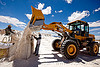 rock salt mining - wheeled loader LG 933, at work, blue sky, exploitation, front loader, halite, heavy equipment, hydraulic, industrial bags, jujuy, lg 933, noroeste argentino, rock salt, sacks, salar, salinas grandes, salt bags, salt bed, salt flats, salt lake, salt mine, salt mining, sdlg, shandong lingong construction machinery co, wheeled loader, white, workers, working, 山东临工, 山东临工工程机械有限公司