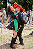 mexican couple dancing - red sombrero hat, bay to breakers, costume, couple, festival, footrace, hat, mexican, red sombrero, street party, woman