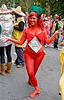 hot sauce - tabasco brand costume, bay to breakers, body art, body paint, body painting, chili sauce, farran, festival, footrace, hot sauce, red, street party, tabasco brand, tabasco costume, woman