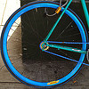 fixed gear bicycle wheel - fixie, bicycle wheel, blue, chain, fixed gear bike, fixie bike, track bike