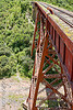 railroad viaduct (argentina), guard rails, maïlys, metric gauge, narrow gauge, noroeste argentino, rail bridge, railroad bridge, railroad tracks, railroad viaduct, railway tracks, rio toro, river, single track, steel, tren a las nubes, truss, viaducto del toro, woman