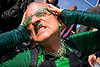 my head hurts, bruce beaudette, dore alley fair, eyeglasses, eyewear, glasses, green, man, polka dots, safety pins, spectacles