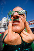 green man, bruce beaudette, dore alley fair, eyeglasses, eyewear, fingers, glasses, green, man, polka dots, spectacles