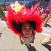 fuzzy hat, ashley, fisheye, fluffy, fuzzy, how weird festival, red hat, woman