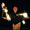 fire performer - fire nunchaku, fire dancer, fire dancing, fire nunchaku, fire performer, fire spinning, flames, night, nose piercing, sarah, septum piercing, woman