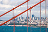 through the golden gate bridge - san francisco