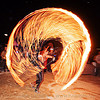 spinning a fire rope - burning man 2010, burning man, circle, fire dancer, fire dancing, fire performer, fire ring, fire rope, fire spinning, flame, night, woman