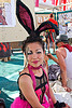 japanese bunny at center camp cafe, asian woman, bunny ears, burning man, center camp, elin, japanese, rabbit ears