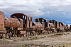 rusty steam locomotives - train cemetery