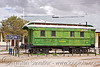 train car monument - uyuni (bolivia), green, monument, railroad, railway, sign, train car, uyuni