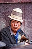 indigenous man with traditional hat (bolivia), bowler hat, indigenous, man, potosí, quechua