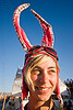 kate with bunny ears - burning man 2010, bunny ears, burning man, goggles, kate, rabbit ears, woman