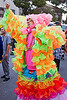 flamenco dress, bruce beaudette, burning man decompression, flamenco dress, neon colors