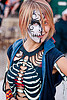 halloween costume - glow in the dark, burning man decompression, costume, face painting, glow in the dark, halloween, skeleton, skull facepaint, stirling, woman