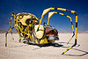 yellow spider, art car, burning man, legs, yellow spider