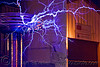 tesla coil - electric discharges, burning man decompression, electric arc, electric discharge, electricity, high voltage, lightnings, plasma filaments, tesla coil