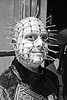 hellraiser makeup, costume, halloween, hellraiser, man, nails, pinhead, pins